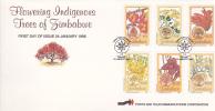 Zimbabwe -1996 Flowering Indigenous Treees FDC - Zimbabwe (1980-...)