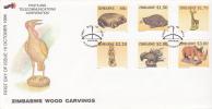 Zimbabwe -1996 Wood Carvings FDC - Zimbabwe (1980-...)