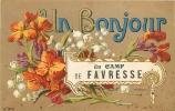 Camp De FAVRESSE : Un Bonjour. 2 Scans. - France
