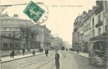 Reims : Rue De Vesle Et Le Théâtre. Belle Animation. 2 Scans. Edition S D T - Reims