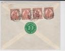 HONGRIE - 1925 - ENVELOPPE RECOMMANDEE De TEGLAS Pour WIEN - VIGNETTE PUB COMMERCIALE