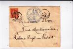 """1902 - TIMBRE MOUCHON SURCHARGE FM Sur ENVELOPPE Du 104° RI """"LE CONSEIL D'ADMINISTRATION EVENTUEL"""" à PARIS - Militaire Stempels Vanaf 1900 (buiten De Oorlog)"""
