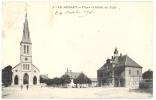 CPA Circulée 1909 Le Russey ( 25 ) Place Et Hôtel De Ville - Frankreich