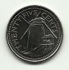 2008 - Barbados 25 Cents, - Barbados