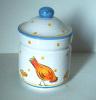 Pot à Condiment Poule - Kruidenpot Met Kip - Canister With Chicken - DI133 - Céramiques