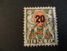 1937 Portomarken   Michel Nr 52 ; Olijf Rood 20 C Auf 50 C - Strafportzegels