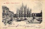 Cp , ITALIE , MILANO , Piazza Del DUOMO , Dos Simple , Voyagée , Ed : BASSANI - Milano