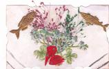 19284 Fantaisie, Poisson Misotys, Trefle, Noeud, Herbe - 1er Avril - Poisson D'avril