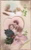 19285 Fantaisie,couple Hiver Amoureux Houx Noeud