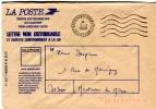 33-LIBOURNE-Centre Recherche Courrier-Oblitération Mécanique-1988-Enveloppe De Service - Marcophilie (Lettres)