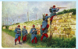 Guerre De 1914-1918. Soldats Français En Embuscade. - Weltkrieg 1914-18