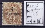 Maroc: Maury  26  Neuf*/MH - Maroc (1891-1956)