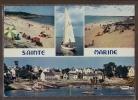 29 COMBRIT STE-MARINE  Plage Et Port Sur Les Bords De L´Odet ; Voiliers, Parasols Bac, Yachts 4 Vues - Animée - Combrit Ste-Marine