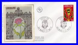 2065 (Yvert) Sur Enveloppe Premier Jour Illustrée Sur Soie - Région. Lorraine - France 1979 - FDC