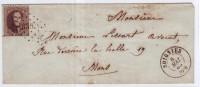 Lettre Affr N°14 Lpts 336  SOIGNIES/ 1865. TTB - 1863-1864 Médaillons (13/16)