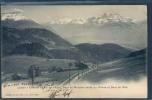 Leysin, Train, Zug, Treno, Eisenbahn, Chemin De Fer De L' Aigle, Dent De Morcles, Vallée Du Rhône Et Dent Du Midi, - VD Vaud