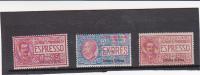 Talian Colonies  Eritrea -1907-21  Special Delivery Stamps   MH - Eritrea