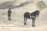 BRIANCON (05)  Ecole De Skis - Officier Skieurs Remorqué Par Un Cheval  788 - Briancon