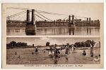 CPA 45 BEAULIEU - Le Pont Suspendu Sur La Loire - La Plage - Other Municipalities
