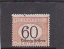 Talian Colonies  Eritrea -1926 Postage Due 60c  Overprinted Colonia Eritrea MH - Eritrea
