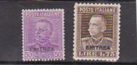 Talian Colonies  Eritrea -1928-29 King Mint Hinged Set 2 - Eritrea