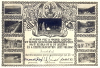 Hungary 1925 Partecipation Certificate At Boy Scout Camp With Nine Pictures - Diplomi E Pagelle