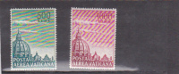 Vatican City-1958 Air Domes Green And Magenta Mint Hinged Set - Vatican