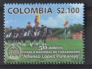 C 296 ++ COLOMBIA 2011 POLICE SCHOOL POLITIE HORSE PAARD  MNH ** - Colombia