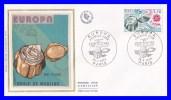 2047 (Yvert) Sur Enveloppe Premier Jour Illustrée Sur Soie Paris - Europa 1979. Boule De Moulins - France 1979 - FDC