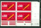 FRANCE CODE POSTAL ROUGE 0.50  N° 1720  20.7.72 - 1970-1979