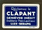 Speelkaart (569 )  Likeuren Likeur Liqueurs Liqueur Distillerie Stokerij : CLAPANT GENIÈVRE INÉDIT Lize Seraing - Speelkaarten