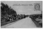 Pont De Gennes Départ Circuit Sarthe Automobile  Circulé 8 Avril 1907 état Très Bon - Chateau Du Loir