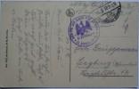 1916 DR GERMANY FELDPOST POSTCARD PARIS TO SIEGBURG WITH INF. RNGT. VON LUTZOW N.25 STAMP - Deutschland