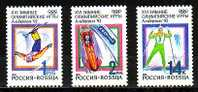 RUSSIA \ RUSSIE - Ol.Win.G´s Albertville´92 - 3v - MNH - Winter 1992: Albertville