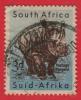 1954   - Afrique Du Sud - Faune  - Rhinocéros - 3p Bleu-clair Et Brun-lilas -