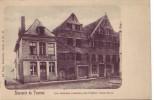 TOURNAI : Souvenir = Les Maisons Romanes Près L'église Saint Brice (Nels  Bxl  S.48 N° 10) écrite - Doornik