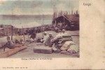 CONGO BELGE = Etalage D'étoffes Sur Le Haut-Congo - Carte Couleur Animée (Nels  Bxl  S.14  N° 85) Vierge - Congo Belge - Autres