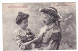 19303 Couple Amoureux XVIIIe AUX PORCHERONS -vaillant Militaire Satisfaire ? 2- Trefle CCCC Andrieu - Couples