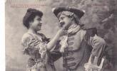 19305 Couple Amoureux XVIIIe AUX PORCHERONS -jaser Amour Bras -6 Trefle CCCC Andrieu - Couples
