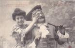 19306 Couple Amoureux XVIIIe AUX PORCHERONS -coucou Menottes Catherine- 1 Trefle CCCC Andrieu - Couples
