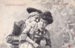 19307 Couple Amoureux XVIIIe AUX PORCHERONS -leve Frole Blonde Chair- 4 Trefle CCCC Andrieu - Couples