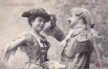 19308 Couple Amoureux XVIIIe AUX PORCHERONS -maritorne, Bicorne- 3 Trefle CCCC Andrieu - Couples