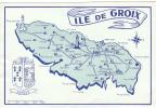 19314 Groix Carte.  Blason Hatoup. Pas D'éditeur;