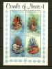 NEVIS 1982 MNH Block 2 Corals - Marine Life