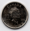 CANADA 10 CENTS 2001 - Canada
