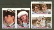 NEVIS 1986 MNH Stamp(s) Royal Wedding 444-447 - Royalties, Royals