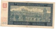 TCHECOSLOVAQUIE 100 Couronnes PROTECTORAT 1940 - Czechoslovakia