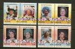 NEVIS 1985 MNH Stamp(s) Queen Mother 292-299 - Royalties, Royals