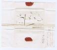 Nederland: Complete Vouwbrief Langstempel Schoonhoven 1821 - Nederland