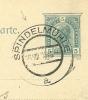 Austria Korrespondenz-Karte SPINDELMUHLE 16-8-1905 Mill Moulin Muhle - Molens